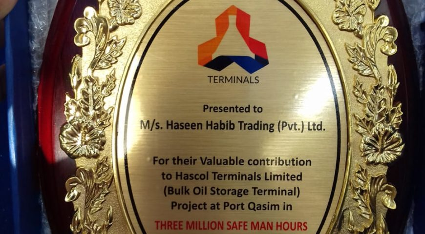 Three Million Safe Man Hours Without Lost Time Injury – Hascol Terminal Port Qasim