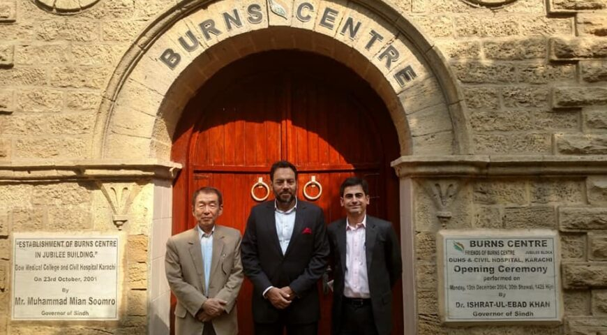 Honorable CEO Haseen Habib, Mr Fawad Barry visited Burns Center